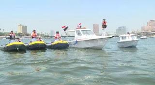 انتشار قوات المسطحات المائية لتأمين احتفالات المصريين بشم النسيم