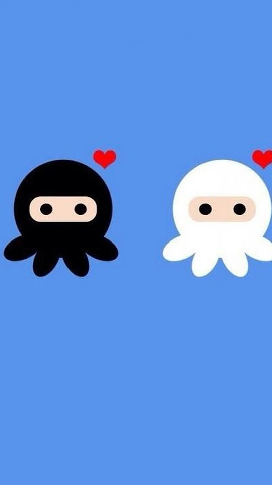 Cartoon Octopus Lovers   Galaxy Note HD Wallpaper
