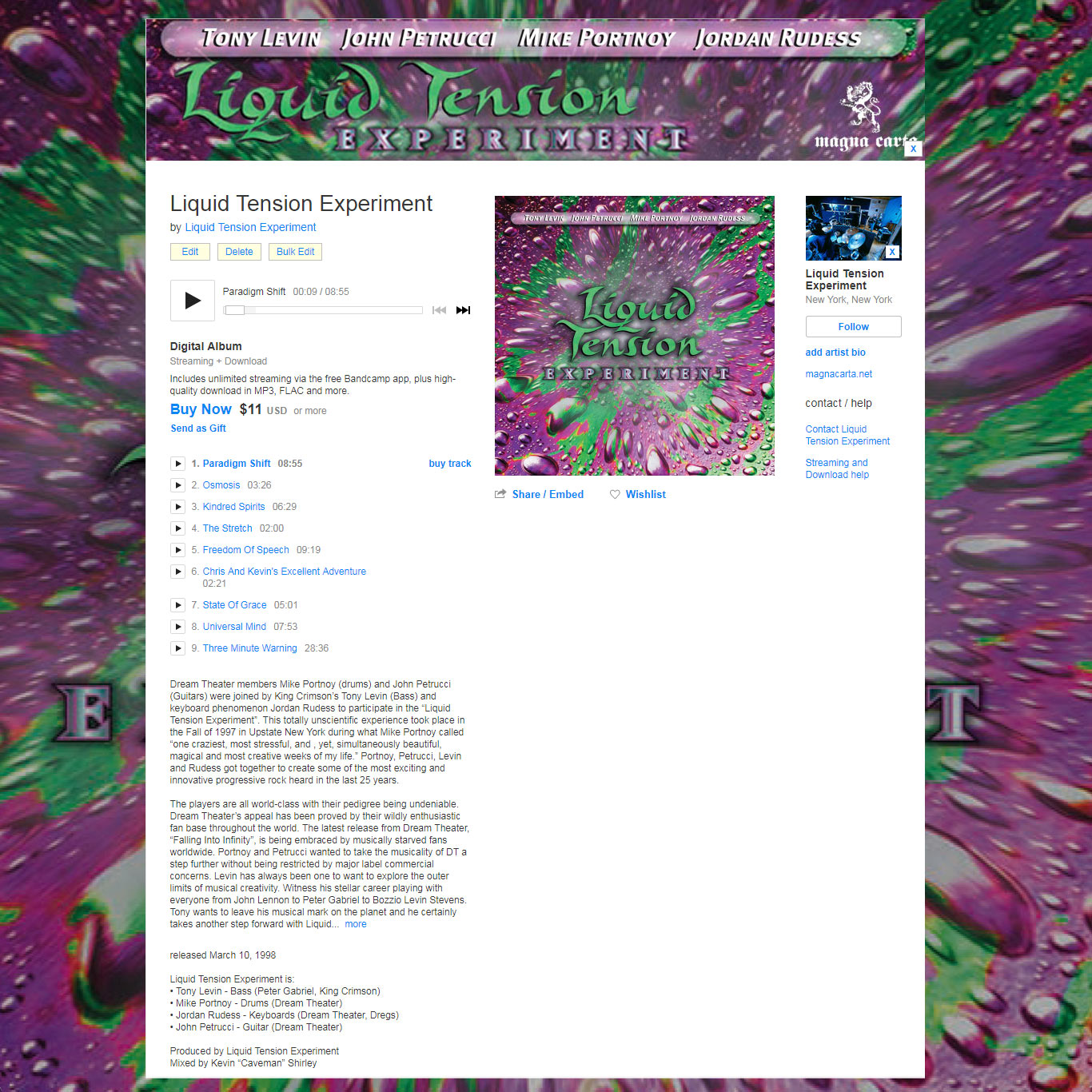 liquid tension experiment discography flac