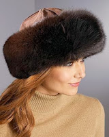 sombrero de piel de zorro