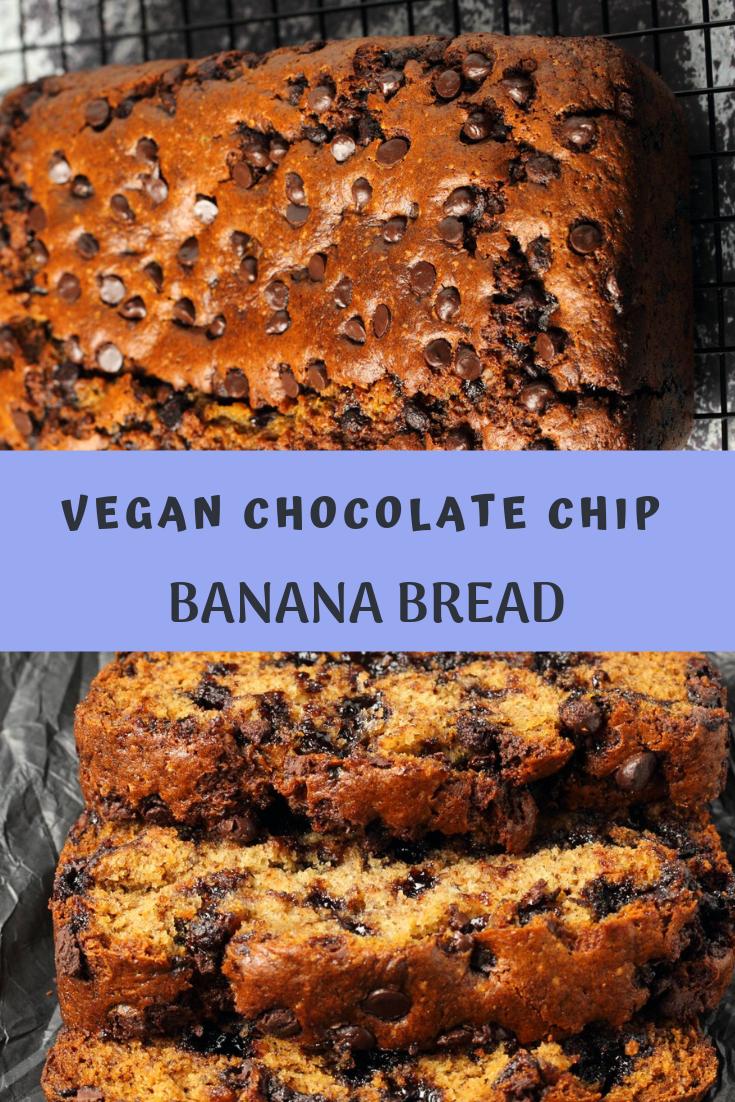 VEGAN CHOCOLATE CHIP BANANA BREAD RECIPE