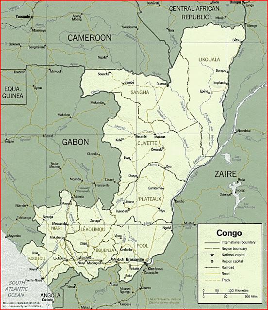 image: Republic of the Congo political map