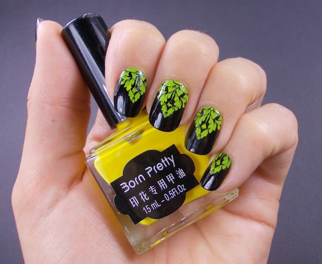 Born pretty store yellow stamping polish moyou fashionista 07 stamping plate