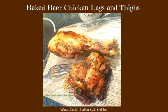 this is how to make beer baked chicken moist tender and fall off the bone with thighs and legs. This chicken recipe with beer is easy and economical