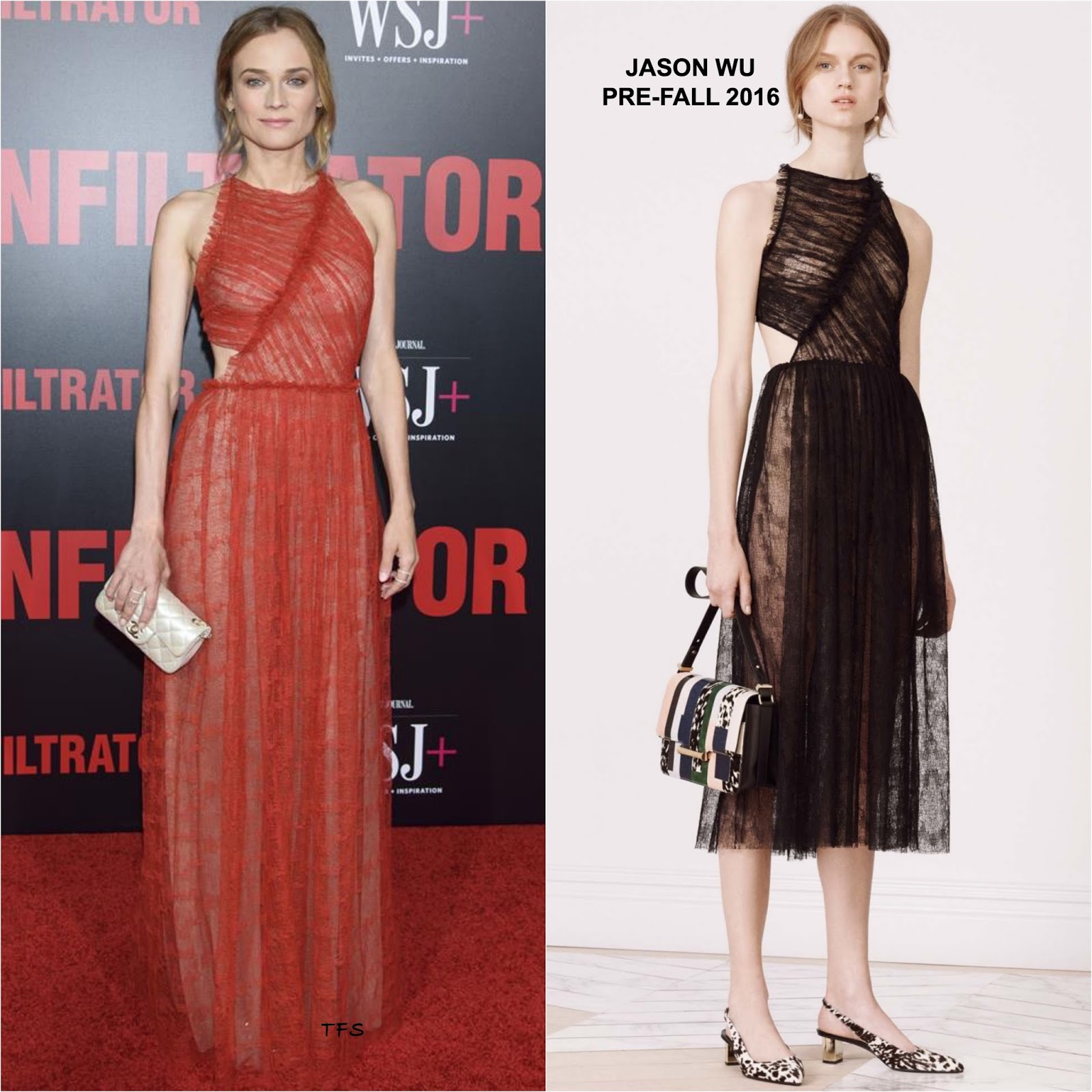 Diane Kruger in Jason Wu at \'The Infiltrator\' NYC Premiere