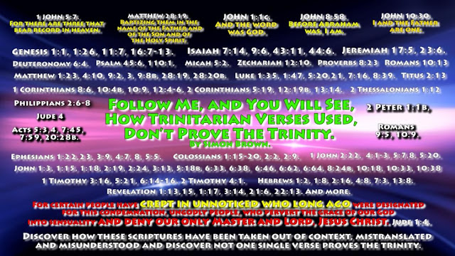 Follow Me, and You Will See, How Trinitarian Verses Used, Don't Prove The Trinity