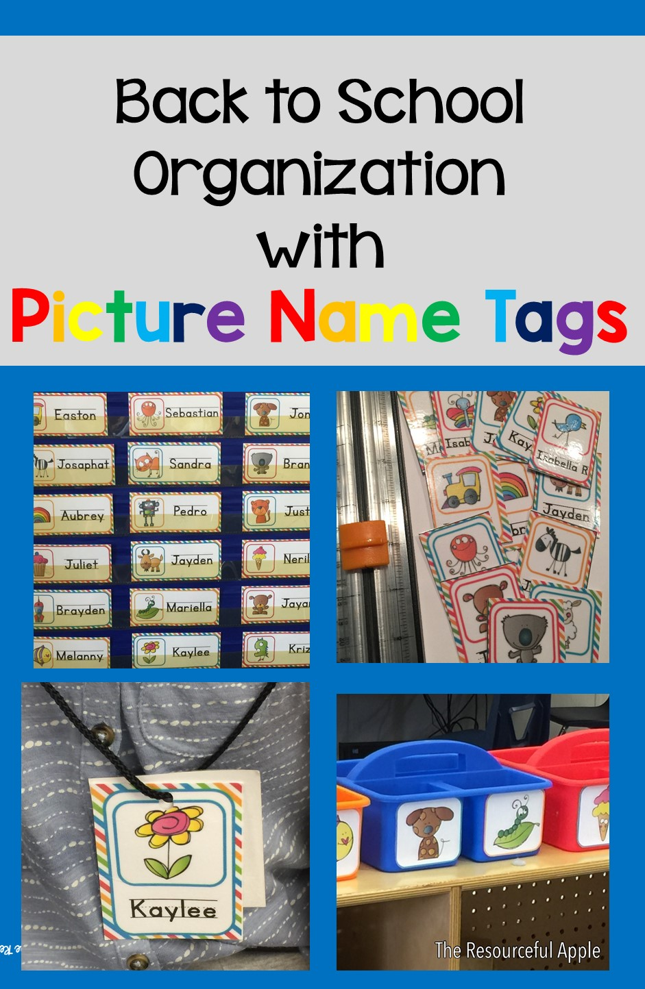 The resourceful apple back to school organization with picture name tags - Back to school organization ...