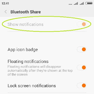 show notification bluetooth android