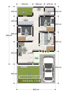 pondasi rumah 6x9 3 kamar