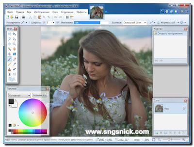 Paint.NET 4.0.12 Final - Интерфейс программы