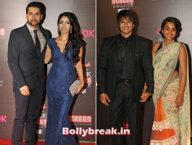 Aftab Shivdasani, Nin Dusanj, Vivek and Priyanka Obeori
