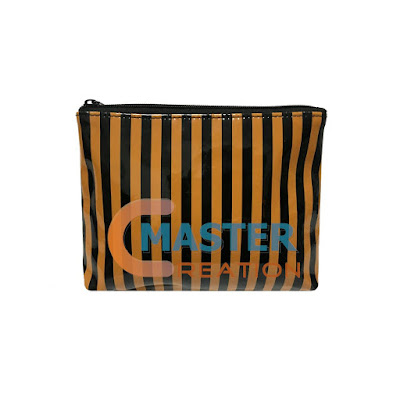 striped zipper bag from Master Creation