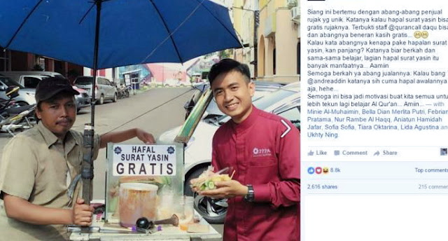 MASYAALLAH.. Hafal Surat Yasin GRATIS Makan Rujak