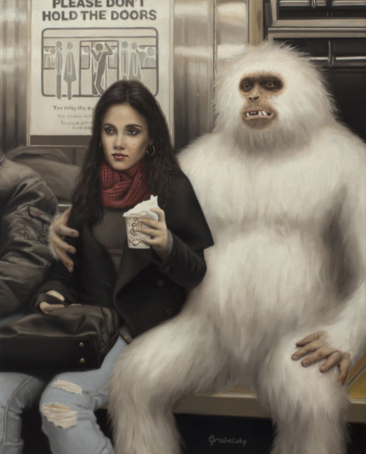 10-Yeti-s-Girl-Matthew-Grabelsky-Paintings-of-Animal-Human-Hybrids-on-the-Subway-www-designstack-co