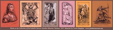 Isabella Stewart Gardner Museum. Sketches by Travis Simpkins