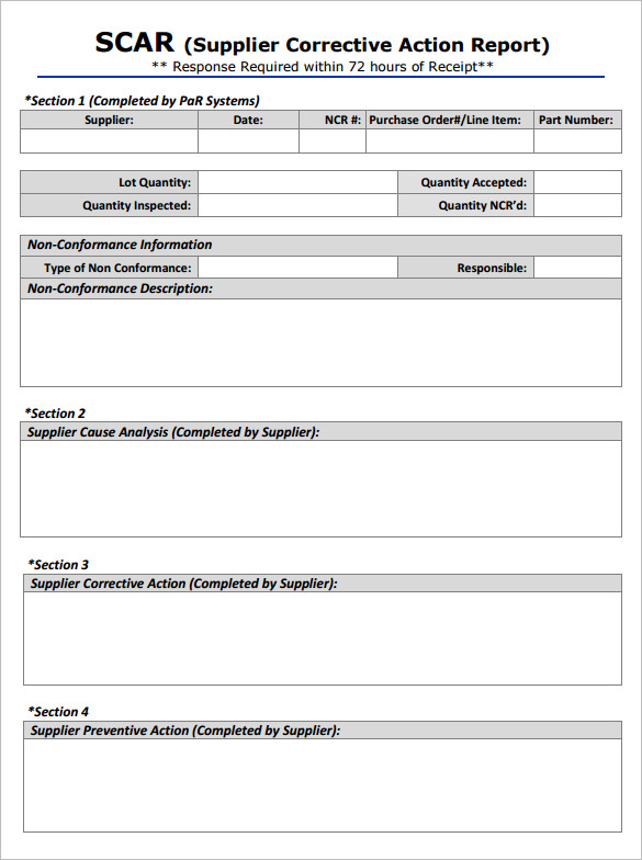 Corrective Action Plan Template | Resume Business Template