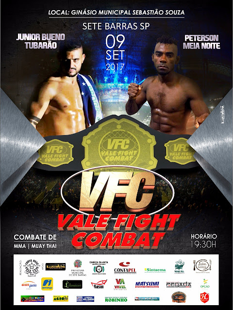 V.F.C Vale Fight Combat em Sete Barras neste sabádo 09/09