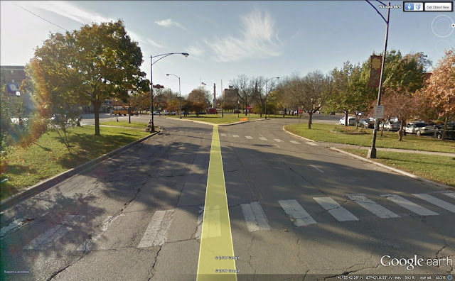 google image of Chicago's Logan Square