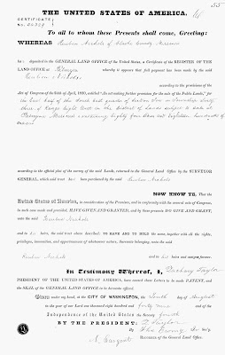 Purchasing Land Document