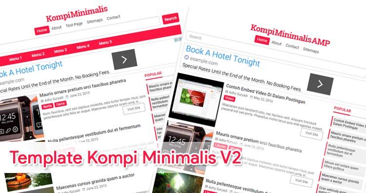 Update Premium Template Kompi Minimalis V2 (AMP Dan HTML5)