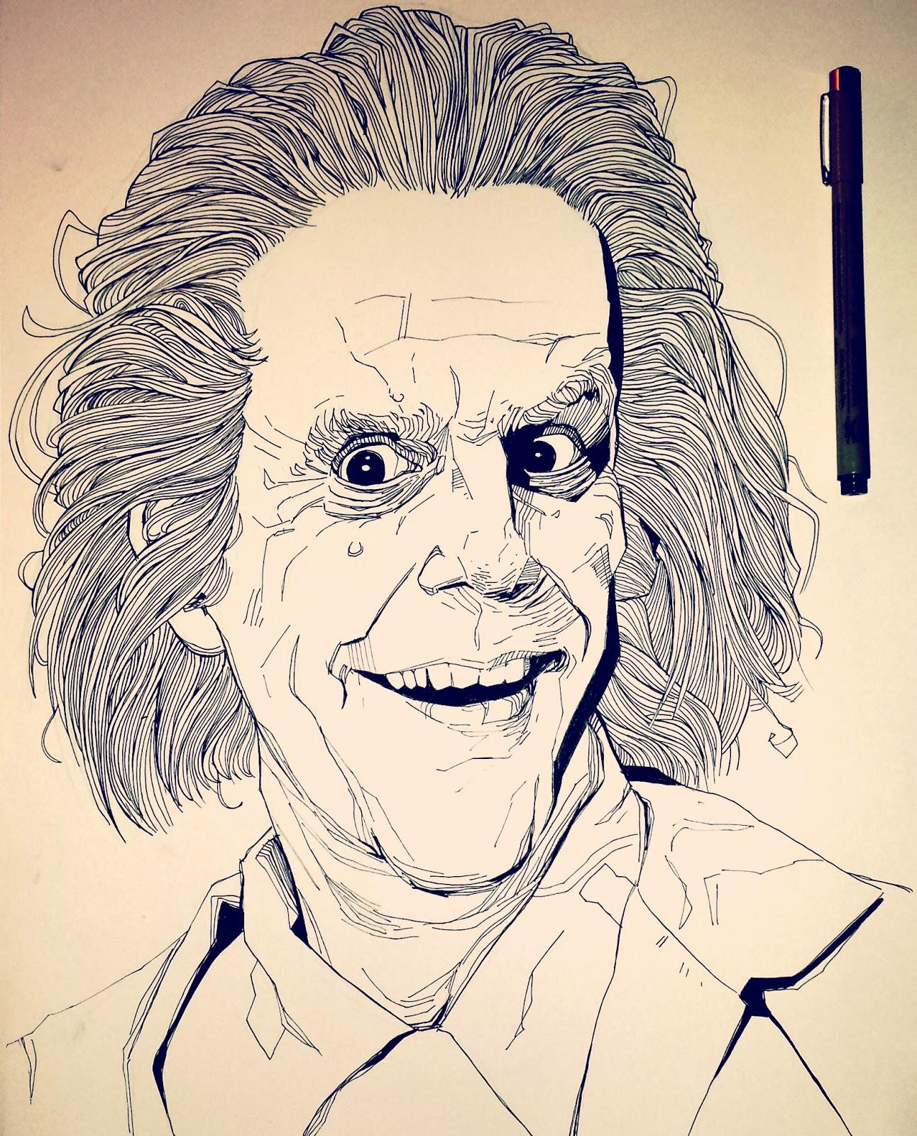Illustration portrait christopher lloyd as Doc Brown