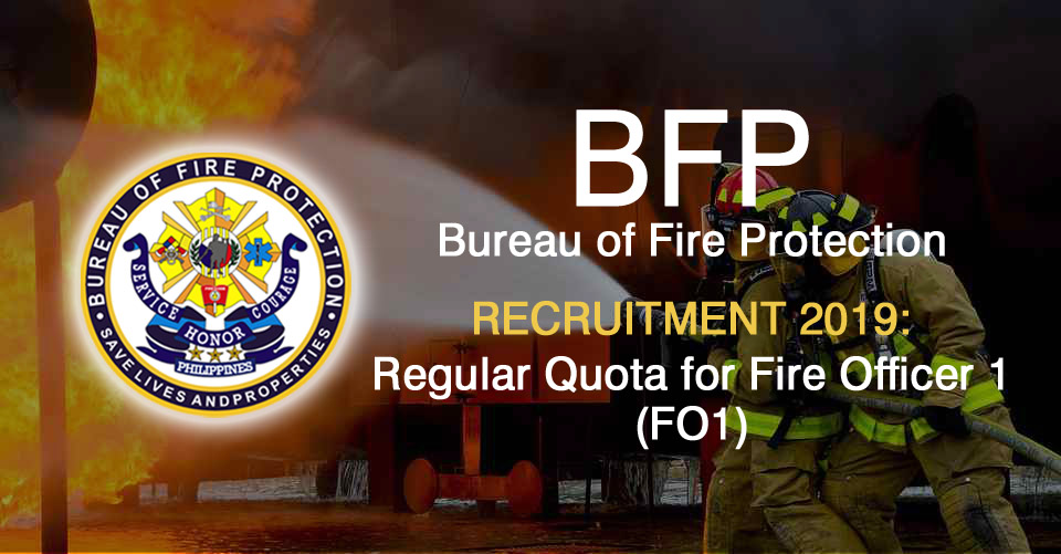 Civil Service Exam PH: BFP Recruitment 2019: Regular Quota