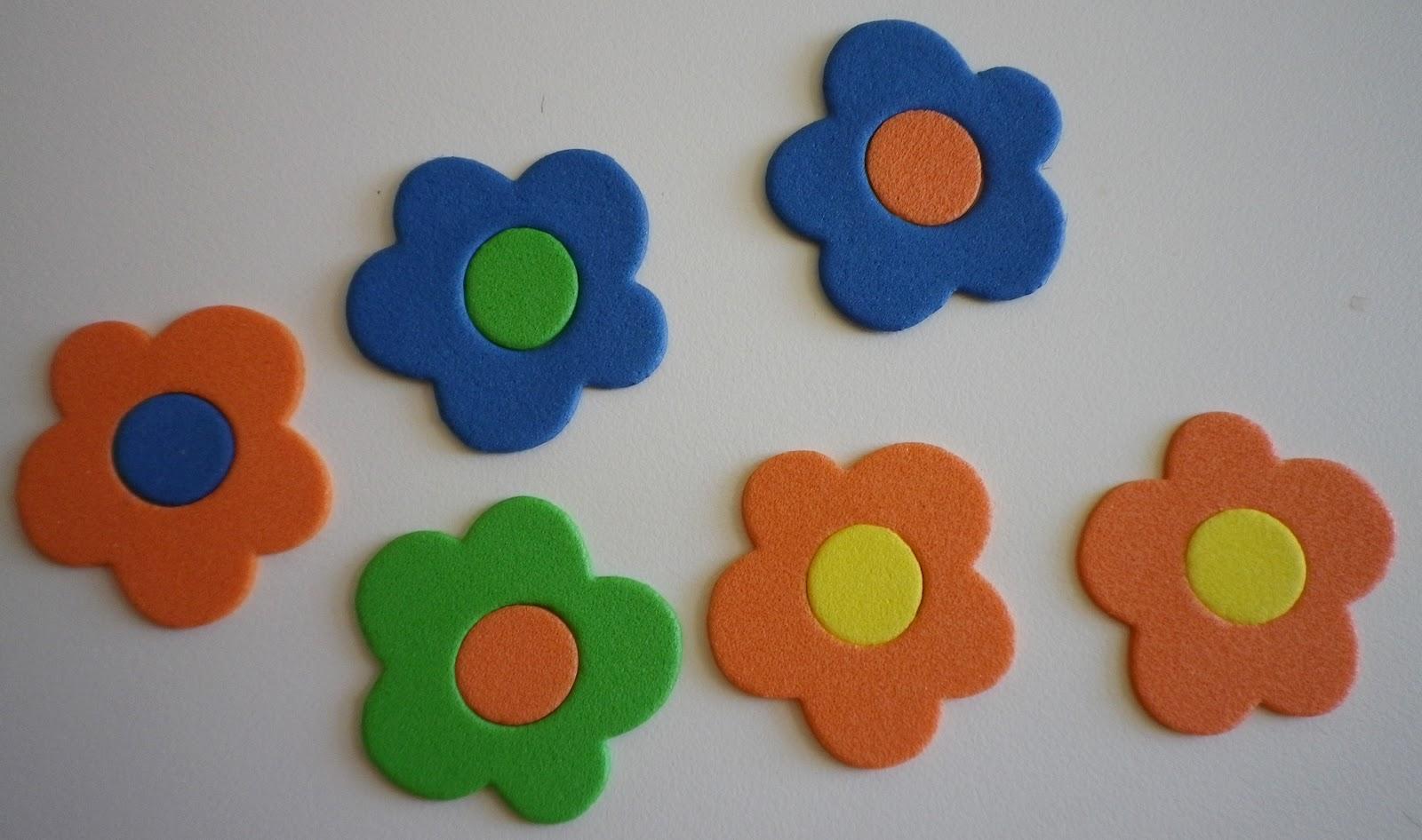Mil manualidades mundo goma eva - Flores sencillas de goma eva ...