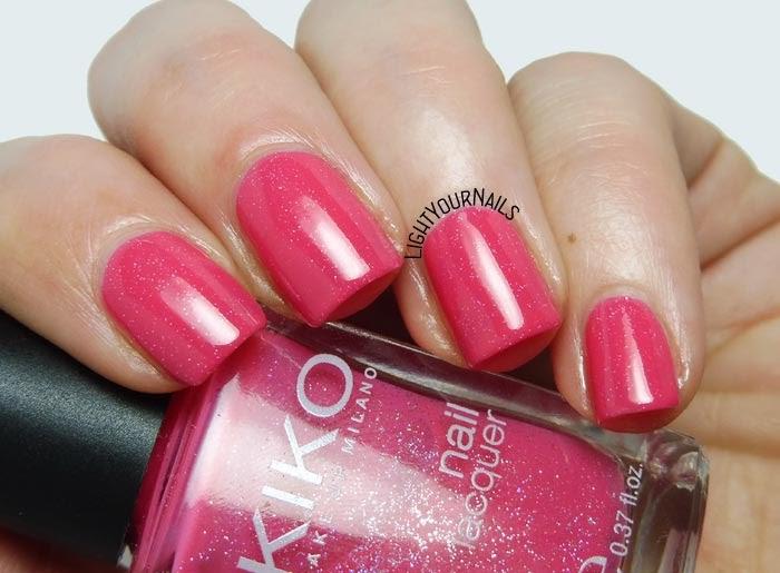 Smalto Kiko 504 Rosa Glassa Perlato nail polish