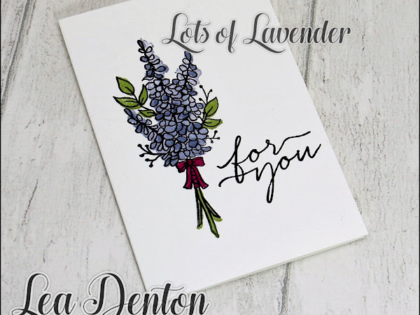 Lots of Lavender Cute Note Card