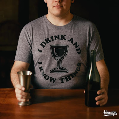 "Game of Thrones ""I Drink and I Know Things"" Typography T-Shirt by HOMAGE"