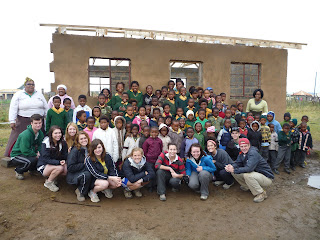 Volunteers on site in South Africa
