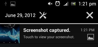 How to take Screenshot on Xperia Mini ST15i with Android 4 ICS