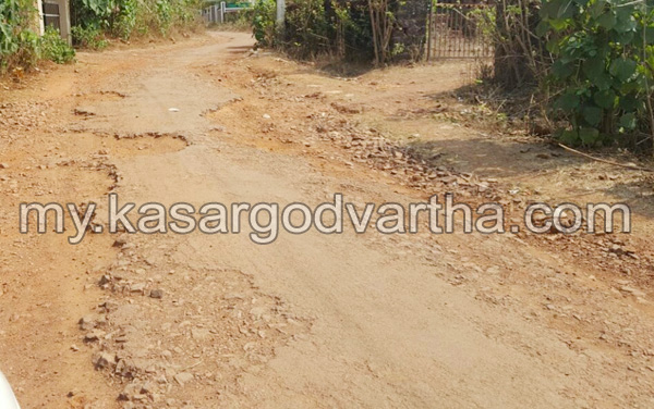 Kerala, News, Kasargod, Muliyar, Ammangod- Chathappady Road in Bad condition.