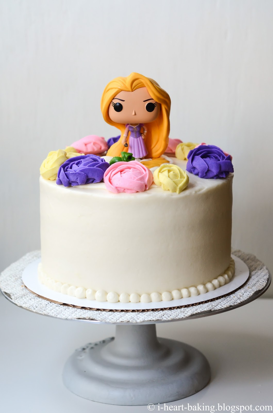 Pleasing I Heart Baking Tangled Rapunzel Birthday Cake With Buttercream Funny Birthday Cards Online Overcheapnameinfo