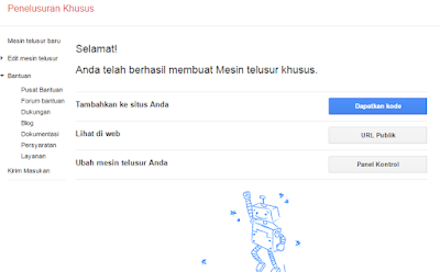 cara membuat google custom search di Blogspot