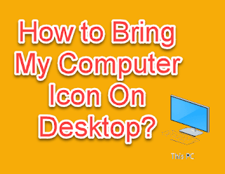 How to display my computer icon on desktop