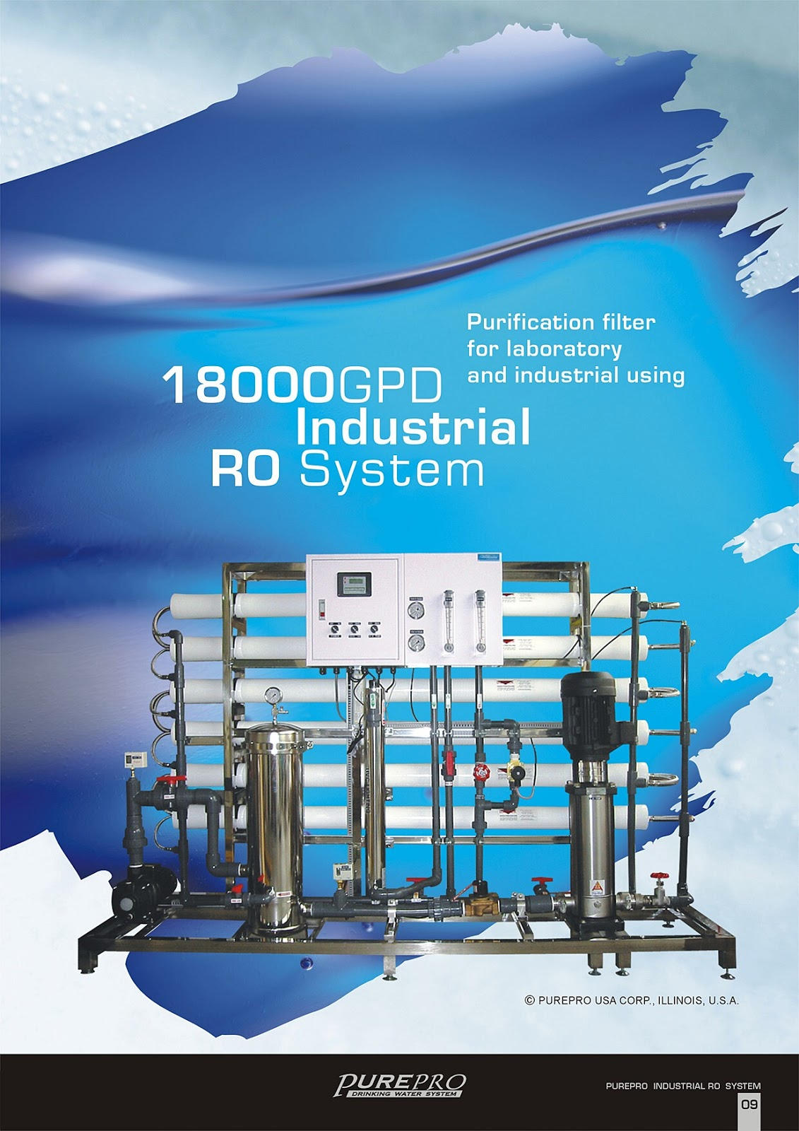 PurePro® RO18000 Industrial Reverse Osmosis Water Filter System