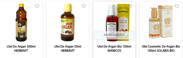 Vezi pret si cumpara de aici ulei de argan