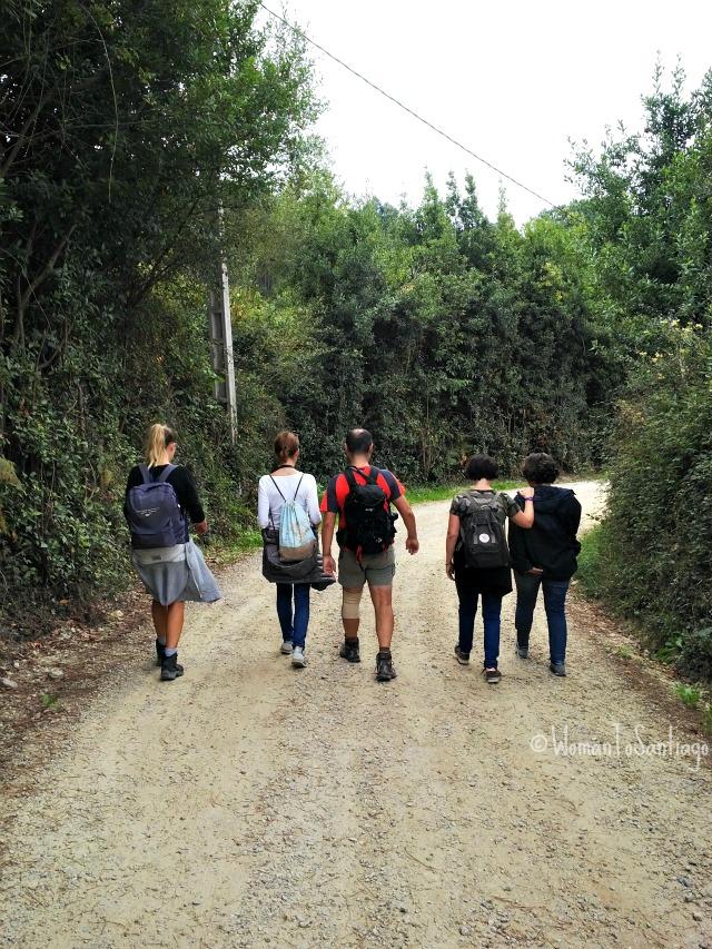 foto de peregrinos por gijon