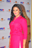 Sree Mukhi in Pink Kurti looks beautiful at Meet and Greet Session at Max Store (48).JPG