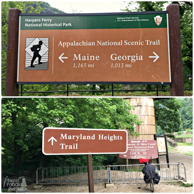 The Maryland Heights Trail, which starts in Lower Town and winds up the mountain side to Overlook Cliff, is a 4 mile hike just off from the Appalachian Trail.