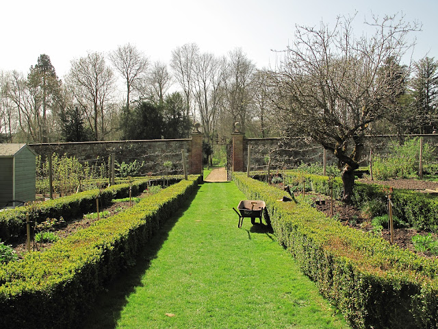 Edward Austen's walled garden, filled with apple trees, strawberries and vegetables.