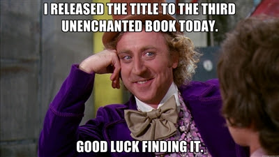 UnEnchanted 3….Title Hunt…Let the games begin.