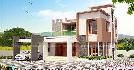 4 Bhk Modern Contemporary 2100 Sq Ft Kerala Home Design
