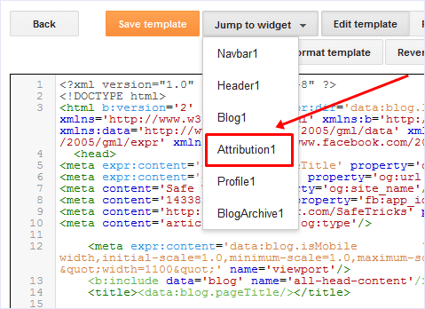 "How To Remove ""Powered By Blogger"" Attribution Gadget From Your Blogger Template"