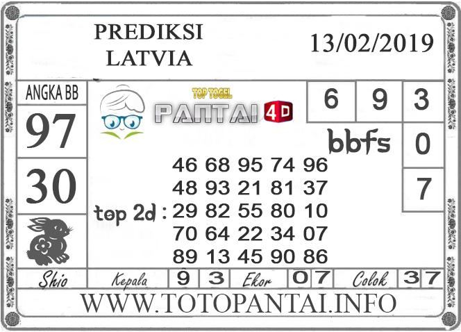 """Prediksi Togel """"LATVIA"""" PANTAI4D 13 FEBRUARI 2019"""