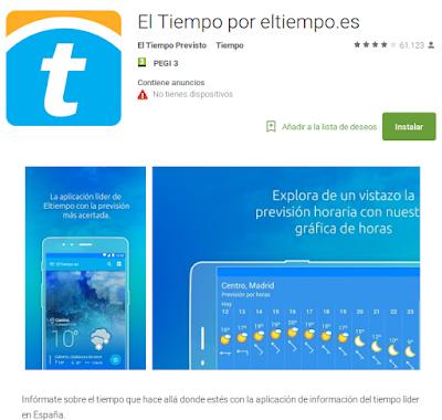 https://play.google.com/store/apps/details?id=es.eltiempo.weatherapp