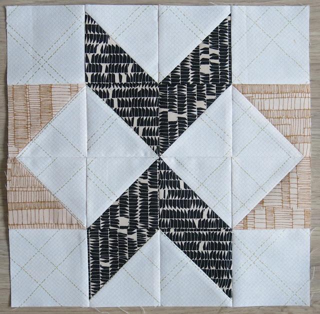 HST Quilt-Along - Pointed block #7 - Carolyn Friedlander fabrics