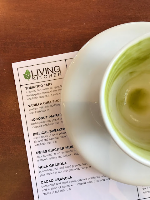 Matcha Latte at Luna's Living Kitchen, Charlotte, NC