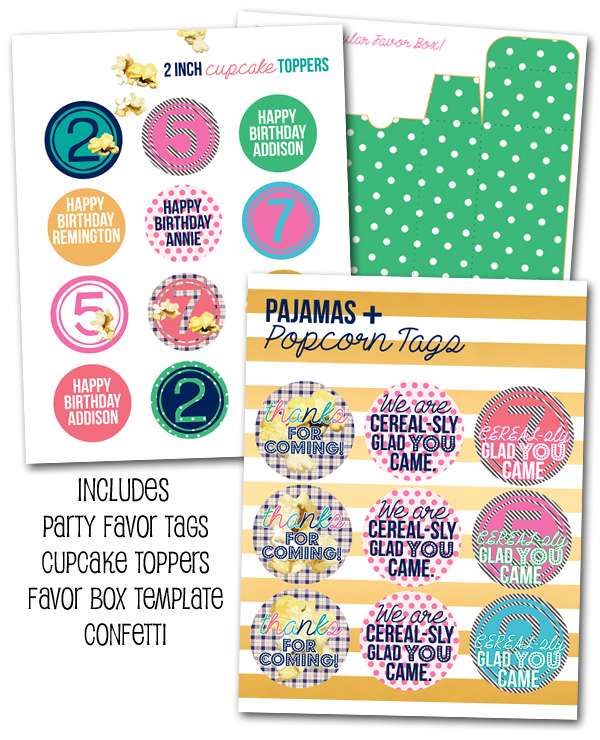 http://www.partyboxdesign.com/item_1933/Pajamas-and-Popcorn-Printables.htm